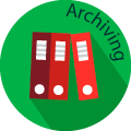 archiving globe badge