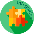 integration globe badge