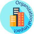 organizational impact globe badge