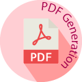 pdf generation globe badge